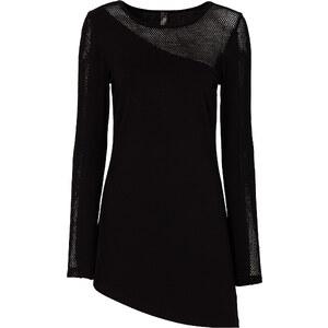 BODYFLIRT boutique Shirt mit Netzeinsatz in schwarz für Damen von bonprix
