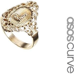 ASOS CURVE Exclusive 'J' Initial Ring