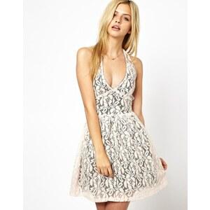 Club L Lace Halter Dress