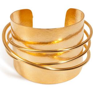 Hervé van der Straeten Hammered Gold-Plated Epure Cuff