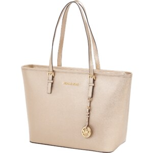 Michael Kors Shopper aus Leder in Metallic-Optik