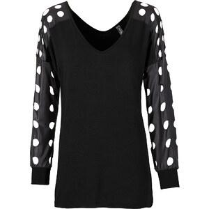 RAINBOW Shirt langarm in schwarz (Rundhals) für Damen von bonprix