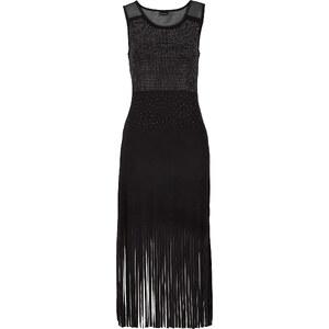 BODYFLIRT Fransen-Kleid in schwarz von bonprix