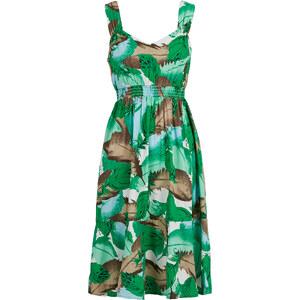 BODYFLIRT Kleid ohne Ärmel in grün (V-Ausschnitt) von bonprix