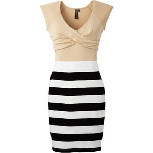 Shirtkleid/Sommerkleid kurzer Arm in beige von bonprix