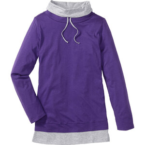 bpc bonprix collection Lounge Langarmshirt in lila für Damen von bonprix