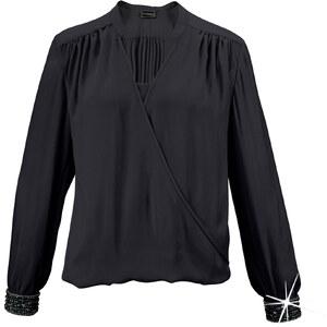 bpc selection premium Premium Bluse mit Strass langarm in schwarz von bonprix