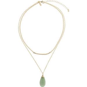 Topshop Halskette mit tropfenförmigem Halbedelstein - Grün