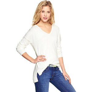 Gap Luxlight V Neck Sweater - Off white
