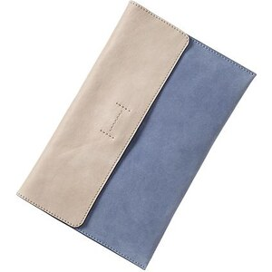 Gap Colorblock Leather Envelope Clutch - New capri blue