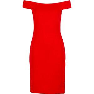 BODYFLIRT Shirtkleid ohne Ärmel in rot (Carmen-Ausschnitt) von bonprix