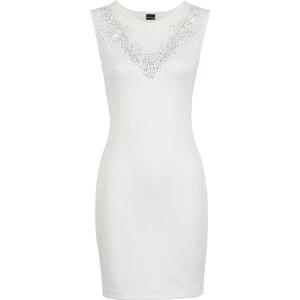 BODYFLIRT Shirtkleid ohne Ärmel in weiß (Rundhals) von bonprix
