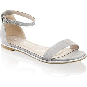 Sandale Funky Shoes grau