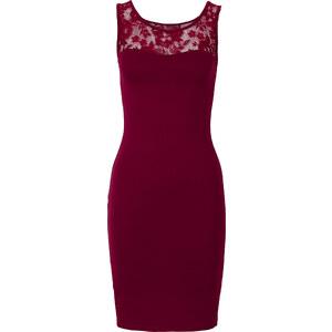 BODYFLIRT Kleid ohne Ärmel in lila (Rundhals) von bonprix