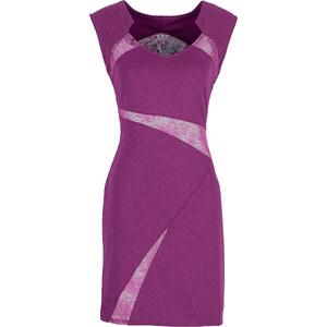 BODYFLIRT Kleid ohne Ärmel in lila von bonprix
