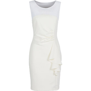 BODYFLIRT Kleid ohne Ärmel in weiß (Rundhals) von bonprix