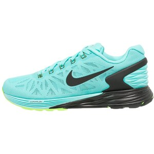 Nike Performance LUNARGLIDE 6 Laufschuh Dämpfung light aqua/black/flash lime