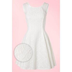 Derhy 50s Picardie Lace Dress in Ivory