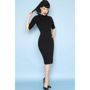 Heart of Haute 60s Super Spy dress black