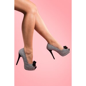 Pinup Couture 50s Bella platform pumps Houndstooth