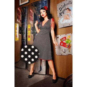 Pinup Couture Anna Dots Black dress