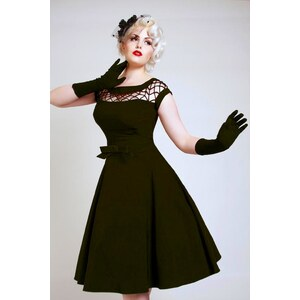 50s Alika black circle dress TATYANA