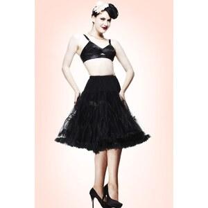 Bunny 50s retro Petticoat chiffon Black