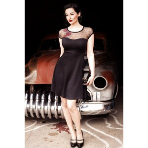 Rock Steady Clothing TopVintage exclusive ~ Miss Fancy Dalilah Dress Black