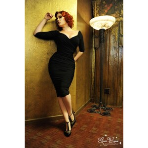 Pinup Couture 50s Monica Dress in Black from Laura Byrnes Black Label Kleid