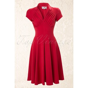 Miss Candyfloss 50s Odette Red swing dress