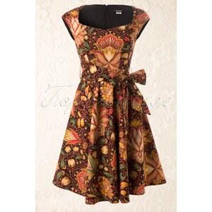 Retrolicious 50s Vintage Oriental Flower Swing Dress