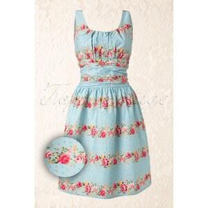 Vixen 50s Heavenly Floral dress blue