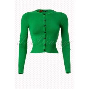 Bunny 50s Paloma Cardigan in Green