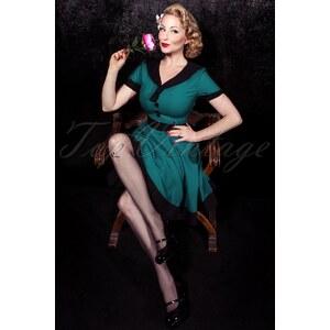 Banned 50s Lola Swing Dress in Petrol Blue