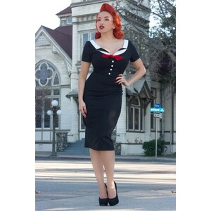 Glamour Bunny Audrey Dress in Black