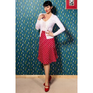 The Seamstress of Bloomsbury 40s Lola Circle Skirt in Red and White