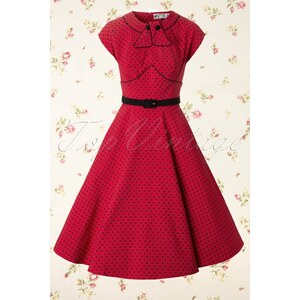 Bunny 40s Noreen dress in Red and Black polka
