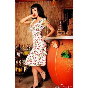 Pinup Couture Anna White Cherry dress