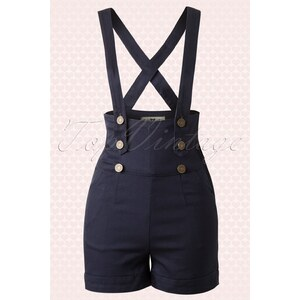 Collectif Clothing 50s Franky Shorts navy