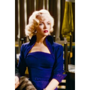Pinup Couture 50s Lorelei Dress Marilyn Monroe in Navy