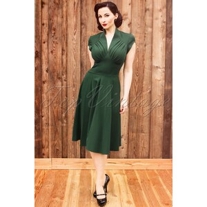 Miss Candyfloss TopVintage exclusive ~ 50s Odette Green swing dress