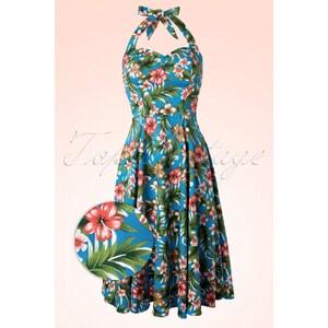 Banned 50s Honey Hibiscus Swing Dress