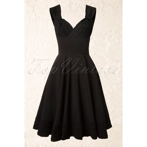 50s Deb Dress in Black