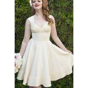 50s Deb Dress in Ivory