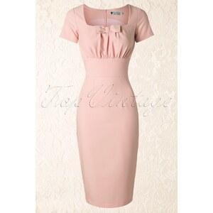 Daisy Dapper 50s Debbie Pencil Dress in Light Pink