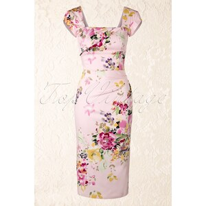 The Pretty Dress Company Cara Dress in The Pink Seville Floral Print