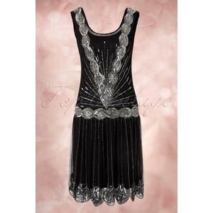 Frock and Frill 20s Zelda Flapper Dress in Black