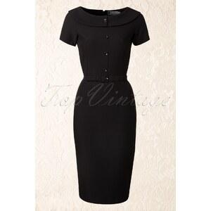 Daisy Dapper 50s Joan Pencil Dress in Black