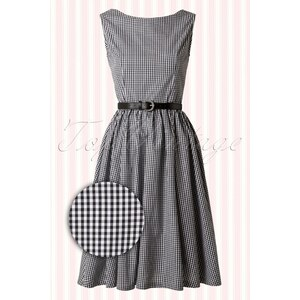 Lindy Bop 50s Audrey Picnic Swing Dress in Black and White