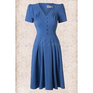 Bunny 40s Moira Dress in Cobalt Blue